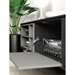 Modloft Baxter Gray Oak and Lacquer Modern Media Stand - Room Setting, Detail