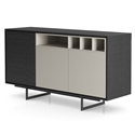 Modloft Baxter Gray Oak and Lacquer Modern Sideboard