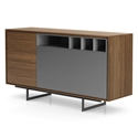 Modloft Baxter Walnut and Lacquer Modern Sideboard