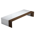 Modloft Black Beckenham White + Walnut Modern Coffee Table
