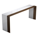 Modloft Black Beckenham White + Walnut Modern Console Table