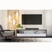 Modloft Black Beckenham White + Walnut 79 In. Modern Media Console - Room Setting Photo