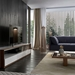 Modloft Black Beckenham White + Walnut 79 In. Modern Media Console - Lifestyle