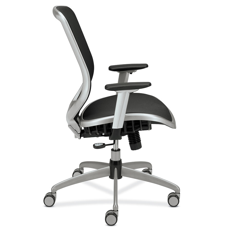 Becker Modern Black + Silver Office Chair; Becker Modern Office Chair    Side View; Becker Modern Office Chair   Back View; Becker Mesh Seat ...