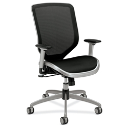 Becker Modern Black + Silver Office Chair