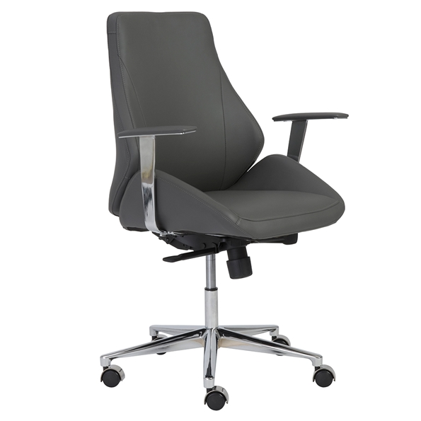 Bergen Modern Gray Low Back Office Chair