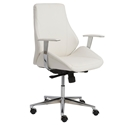 Bedford Modern White Low Back Office Chair