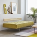 Gus* Modern Bedford Lounge Sleeper Sofa in Bayview Dandelion Fabric Upholstery