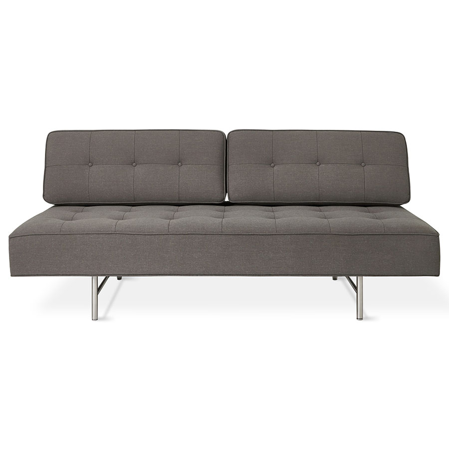 modern sleeper sofas  contemporary sofa beds  eurway - gus modern bedford contemporary sleeper lounge in berkeley metroupholstery with brushed stainless steel base
