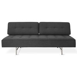 Gus Modern Berkeley Shield Contemporary Sleeper Lounge With Brushed Steel Base