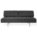 Gus* Modern Berkeley Shield Contemporary Sleeper Lounge with Brushed Steel Base