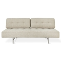 Gus* Modern Bedford Contemporary Sleeper Lounge in Leaside Driftwood with Brushed Steel Base