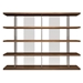 Modloft Beekman Walnut + Tinted Glass Modern Bookcase - Front