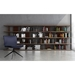 Modloft Beekman Walnut + Tinted Glass Modern Bookcase - Room Setting