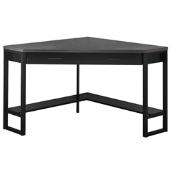 Belgium Modern Grey + Black Corner Desk w/ Storage