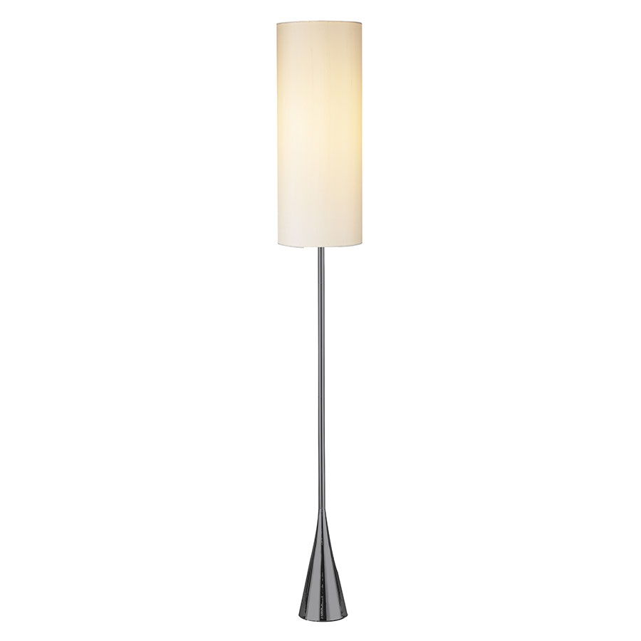 Floor Lamps - Banks Modern Floor Lamp in Black Nickel