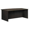 Bellevue Modern Espresso Bow Front Executive Desk