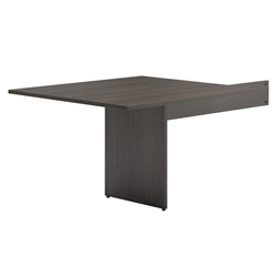 Bellevue Modern Espresso Modular Rectangular Conference Table End