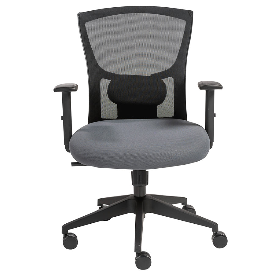Burgess Black Padded Adjule Commercial Grade European Style Contemporary Office Chair