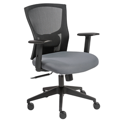 Burgess Black Padded Adjustable Commercial Grade European Style Modern Office Chair