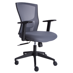 Burgess Gray Commercial Grade Adjustable Modern Office Chair