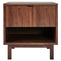 Gus* Modern Belmont Walnut End Table + Nightstand