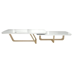 Modloft Black Belvedere Modern Nesting Coffee Tables - Front