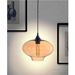 Benita Amber Glass Contemporary Hanging Lamp