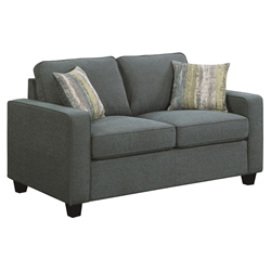 Berkeley Contemporary Blue Loveseat