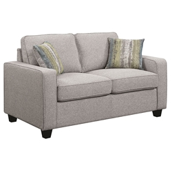 Berkeley Contemporary Grey Loveseat