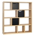 Berlin 4 Level 59 Inch Oak Contemporary Bookcase Storage