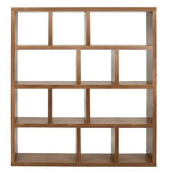 Berlin 4 Level 59 Inch Walnut Contemporary Bookcase by TemaHome