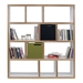 Berlin 4 Level 59 Inch White + Ply Contemporary Bookcase Storage