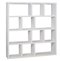 Berlin 4 Level 59 Inch White Contemporary Bookcase by TemaHome