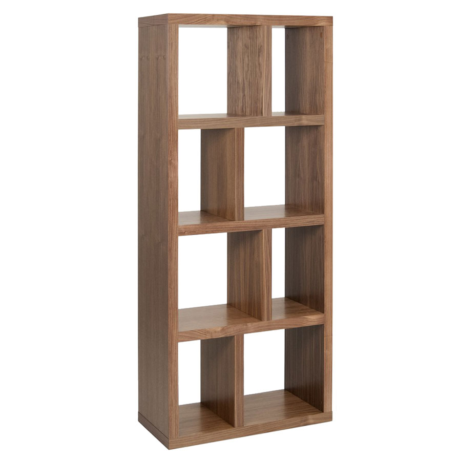 Berlin 4 Levels 70 CM Walnut Contemporary Bookcase