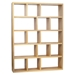 Berlin 5 Levels 150 CM Oak Contemporary Bookcase by TemaHome