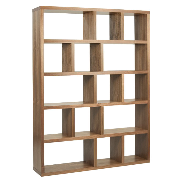 Berlin 5 Levels 150 CM Walnut Contemporary Bookcase