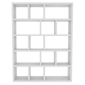Berlin 5 Levels 150 CM White Contemporary Bookcase by TemaHome
