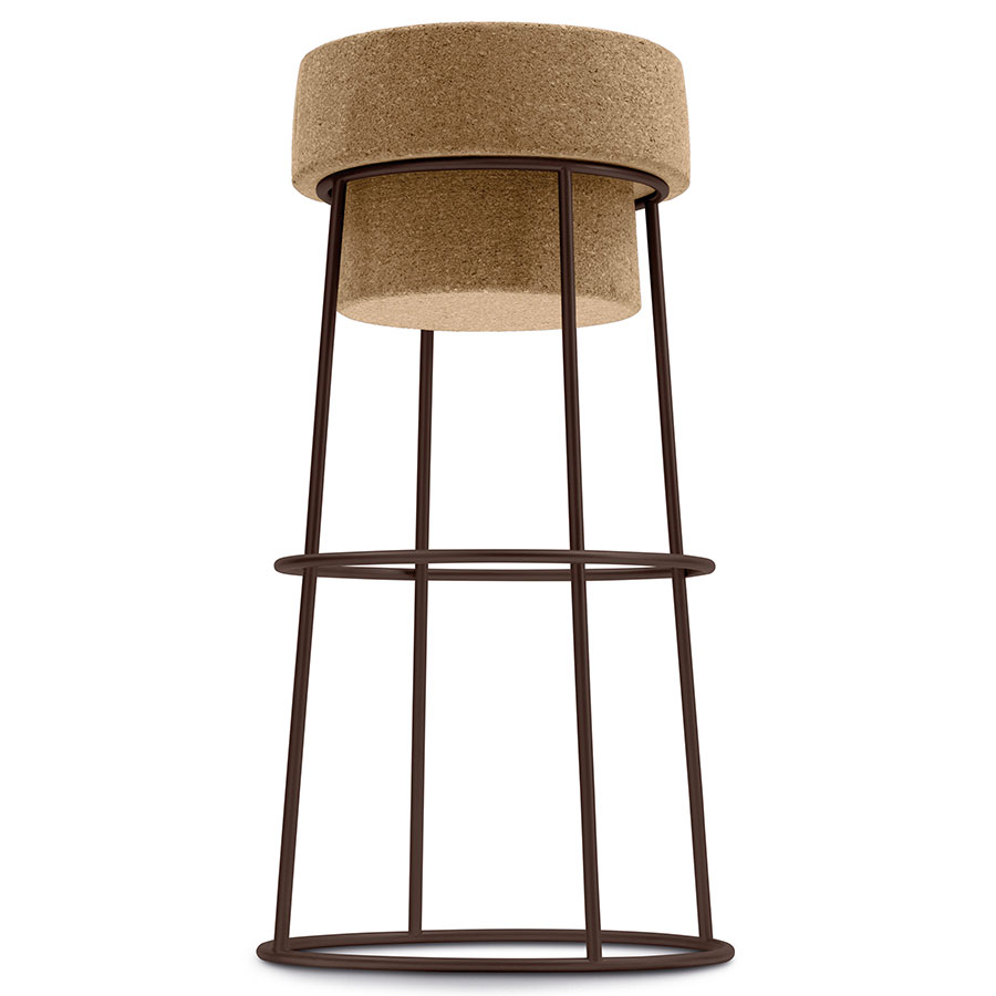 Beth Rust Modern Bar Stool by Domitalia