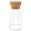 Beth White Modern Bar Stool by Domitalia