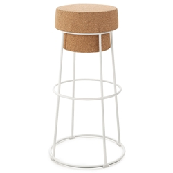 Beth White Modern Bar Stool