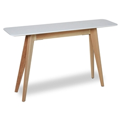 Bethany Modern Natural Ash Wood Console Table