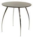 Bistro Wenge + Chrome Cafe Table by Euro Style