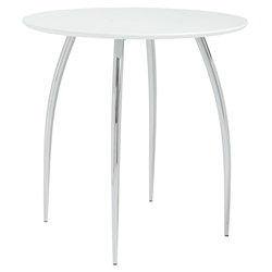 Biloxi Modern Bistro Table in White