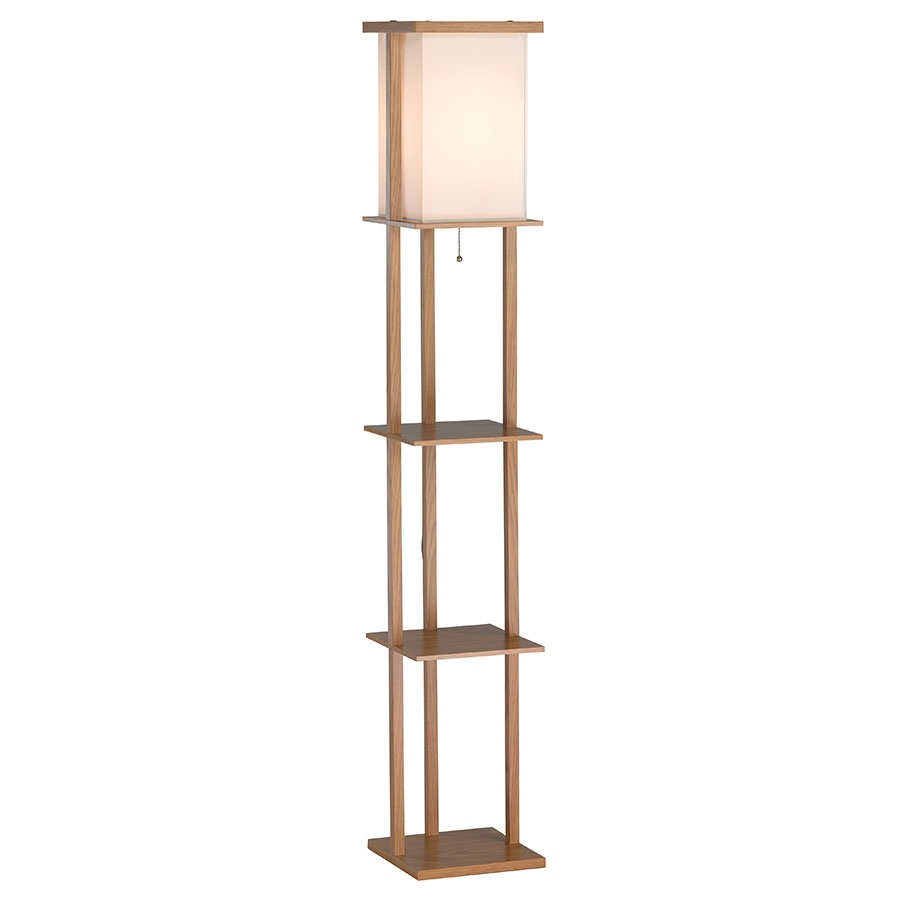 Modern Floor Lamps Bishop Shelf Floor Lamp Eurway: floor lamp with shelves