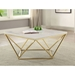 Bismarck Modern Brass + Faux Marble Coffee Table