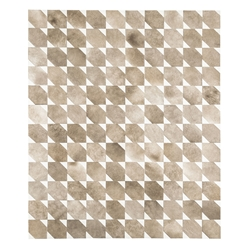 Modloft Black Bisset 8 x 10 Beige Cow Hide Modern Rug