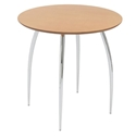 Bistro Modern Natural-Colored Round Dining Table