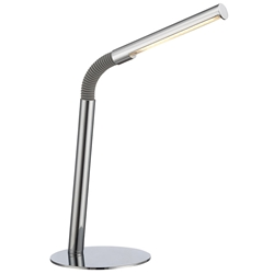 Blaine Chrome Modern LED Desk Lamp