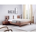 Blair Walnut Contemporary King Bed With Built-In Nightstand